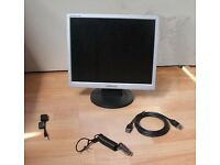 Samsung Monitor and Dell Lock and Cables