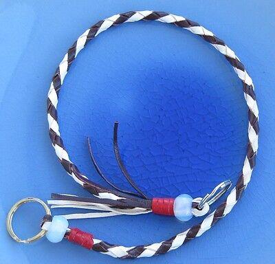 Used, Handmade Biker wallet lanyard of Kangaroo leather lace , Fly fishing net lanyard for sale  Burnaby