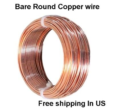 16 Awg Bare Copper Wire 100 Ft Coil 99.9 Pure Annealed  Made In Usa