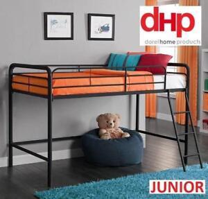 NEW DHP LOFT BUNK BED FRAME JUNIOR 5458196 189342414 BLACK FURNITURE