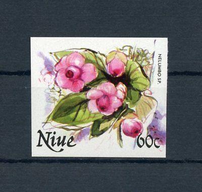 NIUE Nr.402U ** UNGEZÄHNT 60C. Blüten 1981 !!! (112026)