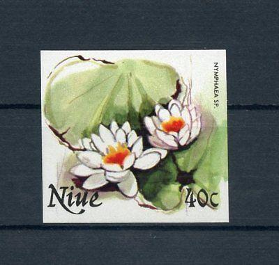 NIUE Nr.398U ** UNGEZÄHNT 40C. Blüten 1981 !!! (112042)