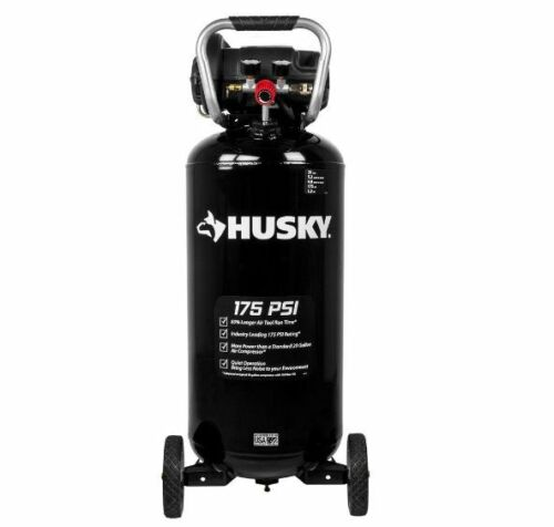 NEW 20 Gal. 175 psi Quiet Portable Air Compressor Blow Cleaning Steel Vertical