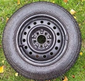 Mazda Bongo Spare Wheel not Space Saver Full Size Steel Wheel