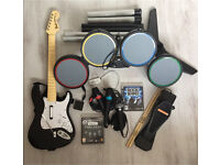 Rock Band PS3 Set with accessories
