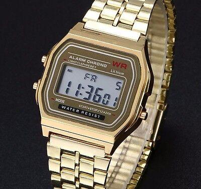 $7.79 - Fashion Business Mens Luxury Gold Steel Quartz Stainless Steel Wrist Watch New