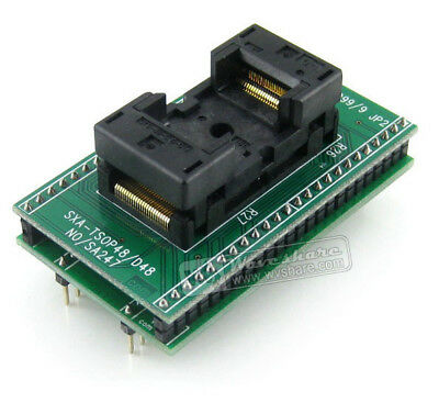 Enplas Ic Test Socket Programming Adapter For Tsop48 0.5mm Pitch 18.4mm Width