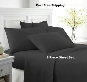2100-LUXURY-BAMBOO-SERIES-DEEP-POCKET-6-PIECE-BED-SOFT-SHEET-SET-ALL-SIZES
