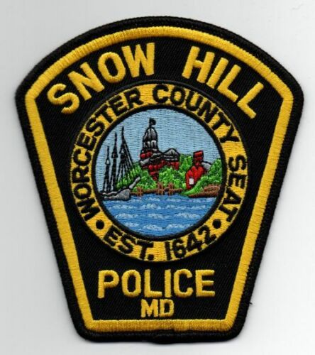 MARYLAND MD SNOW HILL POLICE NICE PATCH SHERIFF