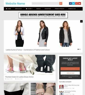 Ladies Fashion Store - Established Online Business Website For Sale Mobile