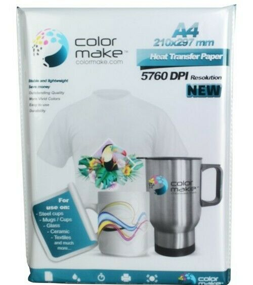 200 sheets of Transfer paper color make sublimation paper