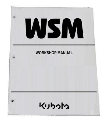 Kubota Kx040-4 Excavator Workshop Service Manual Shop Repair Book