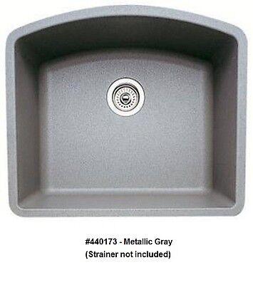 Bowl Silgranit Undermount Sink (BLANCO 440173 DIAMOND Single Bowl Silgranit II Undermount Sink, Metallic)