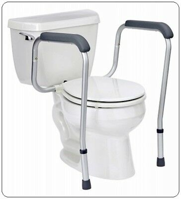 Medline Toilet Safety Rails Handicap Arms for Assist Elderly Seat Support