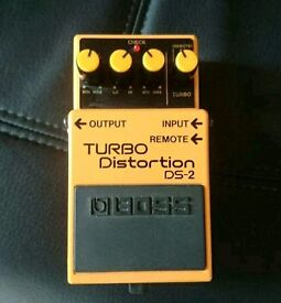 Boss Turbo Distortion guitar effects pedal