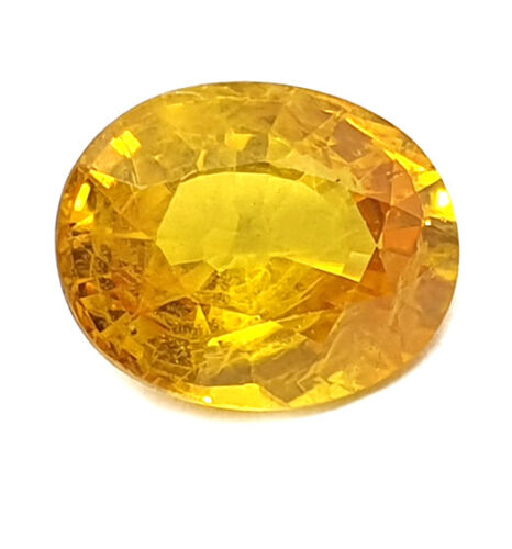 2.25Ct Certified Natural Mined Yellow Sapphire Finest Quality Loose Gemstone