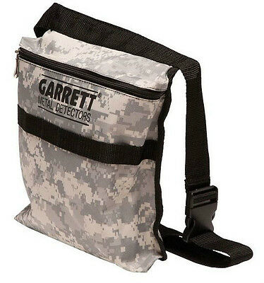 Garrett Camo Canvas Metal Detecting Finds Recovery Pouch Bag & Belt PN:1612900