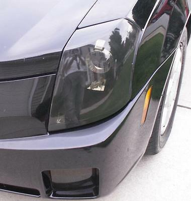 03-07 CADILLAC CTS SMOKE HEAD LIGHT PRECUT TINT COVER SMOKED OVERLAYS Cadillac Headlight Covers