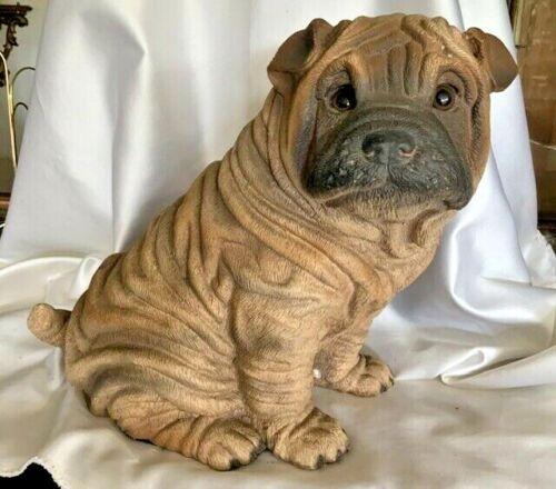 1985 Universal Statuary Corp 474 - Shar Pei Puppy Dog Sculpture