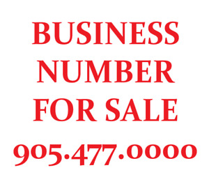 Business or personal phone number for sale 905-477-0000