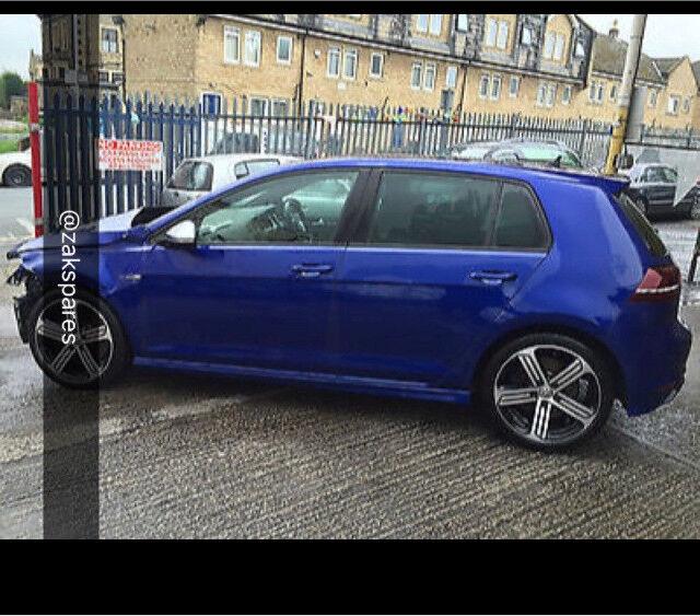 Vw Golf Mk7 R Lapiz Blue Breaking Parts Wheelnut In
