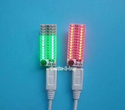 USB Power 2x13 Mini Music Spectrum LED Analyzer Voice / Audio Level Indicator