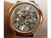 Armani Watch Black & Gold