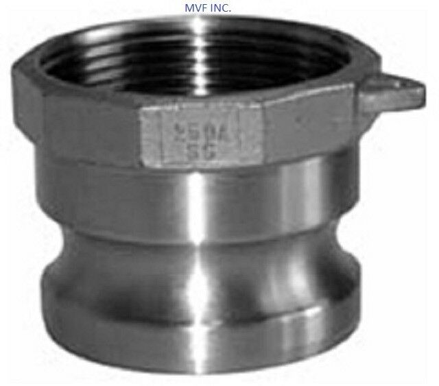 """4"""" Type A Camlock Female NPT x Male Adapter 304 Stainless, Hose <A400SS304"""