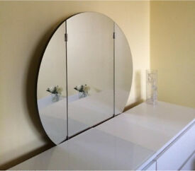 Retro Circle Dressing Table Mirror Rrp £299.99