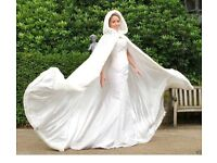 Winter wedding cape