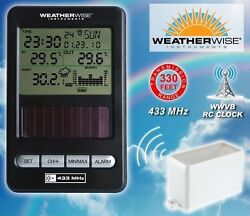 WIRELESS HOME WEATHER STATION, DIGITAL ATOMIC CLOCK, ACURITE OUTDOOR THERMOMETER