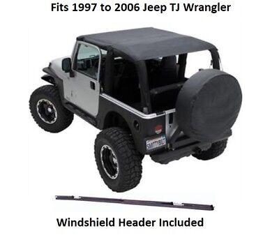 Used, Jeep Extended Bikini Top with Windshield Header for 97-06 Jeep TJ Wrangler for sale  Shipping to South Africa