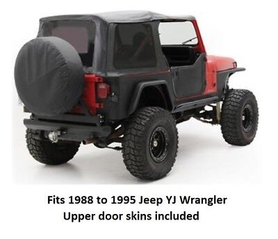 - Jeep Replacement Soft Top with Tinted Windows for 1988 to 1995 Jeep YJ Wrangler