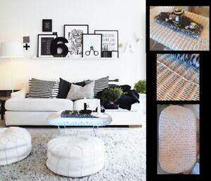Refinished & Gorgeous! White Wicker COFFEE Table