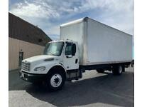 """2015 Freightliner 26ft box TRUCK 109"""" hi cube Air ride Liftgate HINO FORD GMC"""