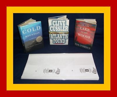 """5 - 9 1/4"""" x 19"""" Brodart Fold-on Book Jacket Covers - Lo-Luster clear mylar"""