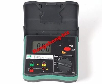 New Dy4200 Digital Earth Ground Resistance Tester Meter 0.01 To 2000 Rs8