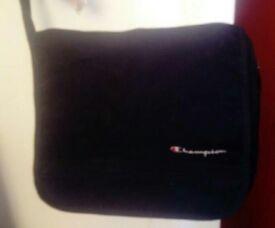 CHAMPION Shoulder/Record bag. Black