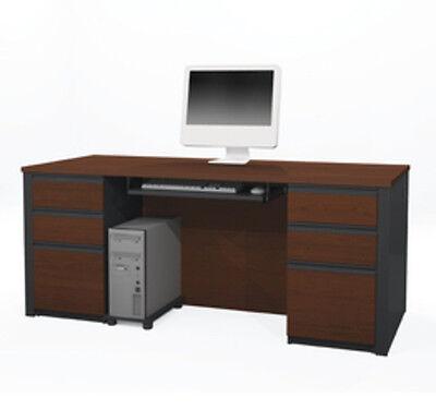 Bestar Prestige Executive Desk Kit In Bordeaux Graphite Finish 99850-39 New