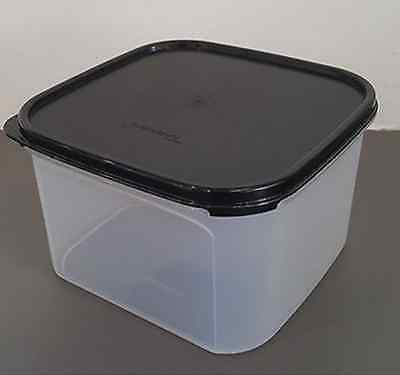 Tupperware Clear Storage Container Modular Mates #2 Square Black Seal New