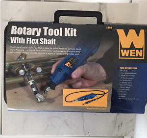 Brand new. WEN 2305 Rotary Tool Kit with Flex Shaft
