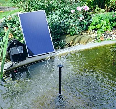 Water Pump Kit Solar Powered Water Feature Fountain Pool Pond Watering Plants