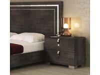 Modern Venicia Bedside Cabinet in Grey Birch Finish RRP £639.96 40% OFF