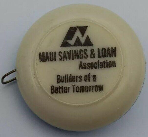 Vintage Maui Savings & Loan Tape Measure Hawaii Advertising Plastic Japan *D1