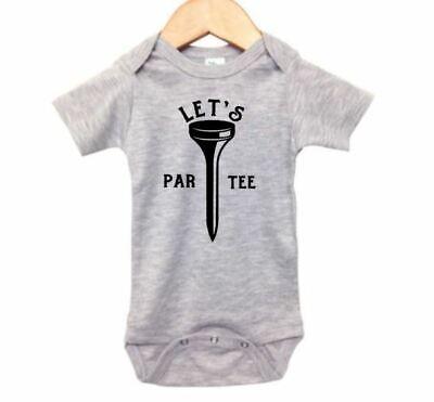 Baby Golf Golf Romper - BABY GOLFING OUTFIT, Let's Par Tee, GOLF ROMPER, INFANT Golf BODYSUIT, Baby GIFT