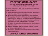 Private Carer has availability.