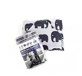 BundleBean GO Grey Elephant: Multi-use Footmuff Waterproof & Warm, Universal Fit
