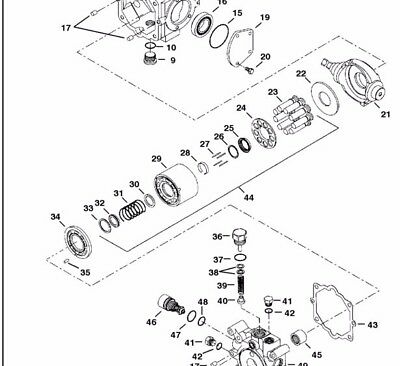 New Oem Cylinder Block Kit For Bobcat 6661758 Rotating Group Rotary Group