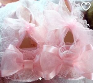 Baby booties, newborn shoes, baptism shoes, lace shoes, wedding Windsor Region Ontario image 1