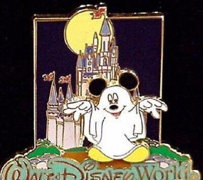 Disney Castle Halloween (Disney WDW Castle Halloween Ghost Mickey Mouse Limited Edition 1000)